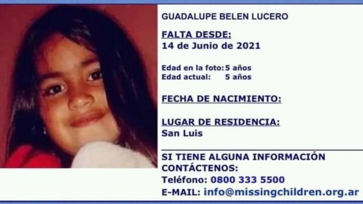 La madre de la nena desaparecida en San Luis pidió que le devuelvan a su hija