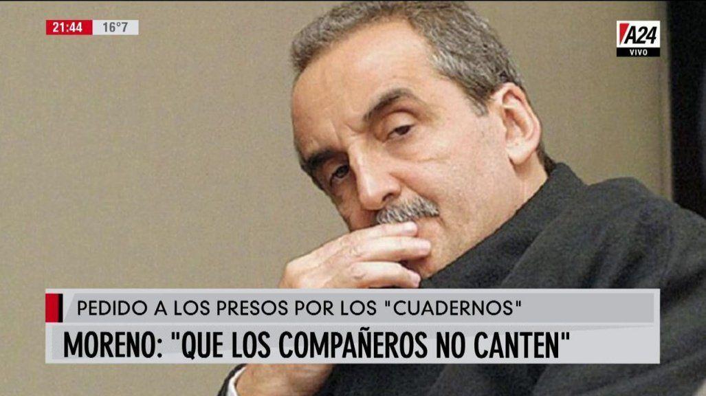 El polémico audio en el que Moreno dice que los compañeros están cantando en la Justicia porque no les damos política