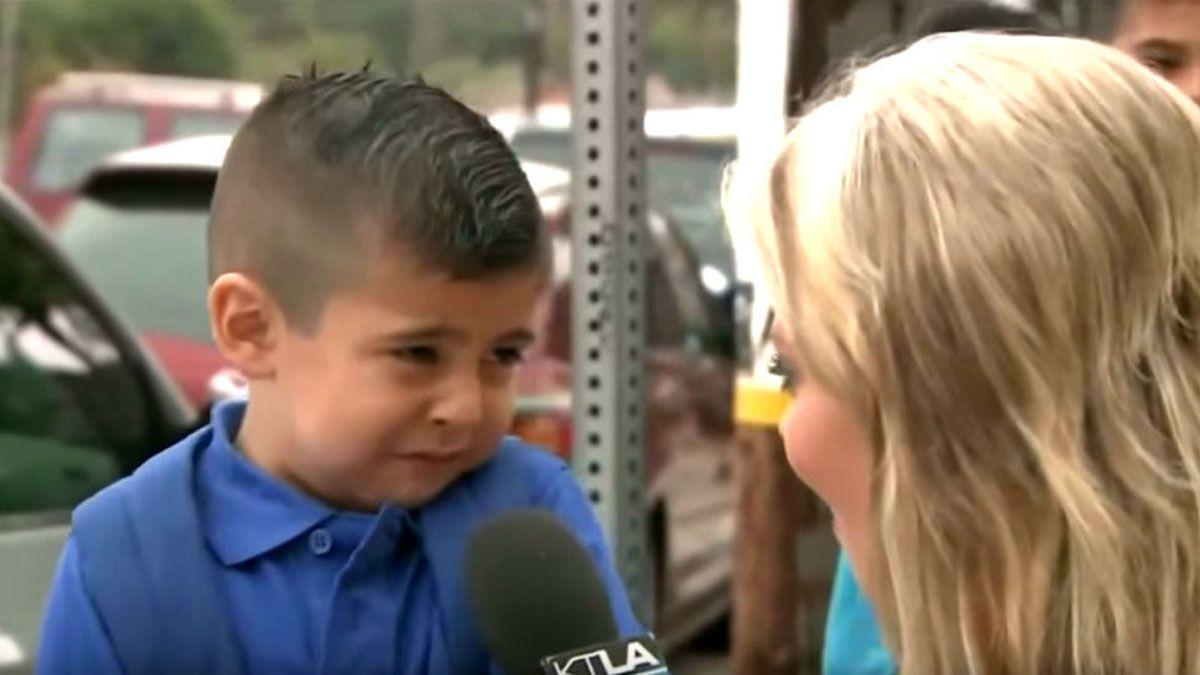 NdR: la imagen no es del niño en cuestión sino del famoso meme.