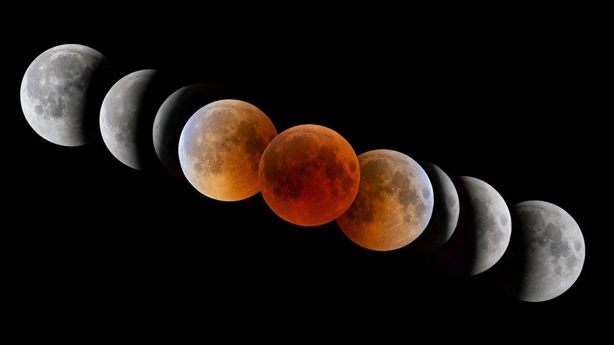 Luna llena, Súper Luna de Sangre y eclipse lunar: los tres fenómenos imperdibles de este miércoles