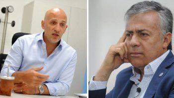 Emiliano Yacobitti, diputado radical y Alfredo Cornejo, presidente de la UCR.
