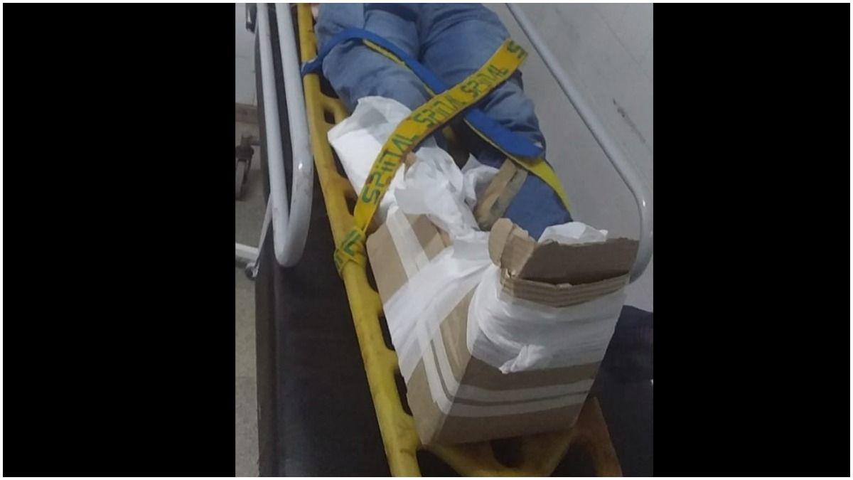 Tuvo que viajar 150 kilómetros en ambulancia hacia otro hospital