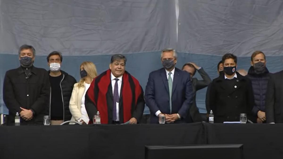 El presidente Alberto Fernández encabezaba este miércoles la inauguración de la Facultad de Ciencias Médicas de la Universidad Nacional de José C. Paz (UNPAZ) (Foto: captura de YouTube).
