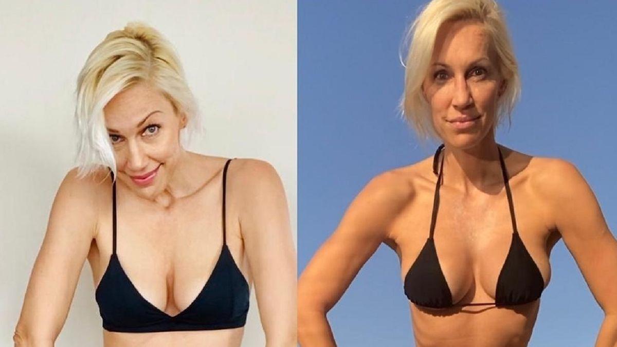 Ingrid Grudke mostró el antes y el después de su cambio físico