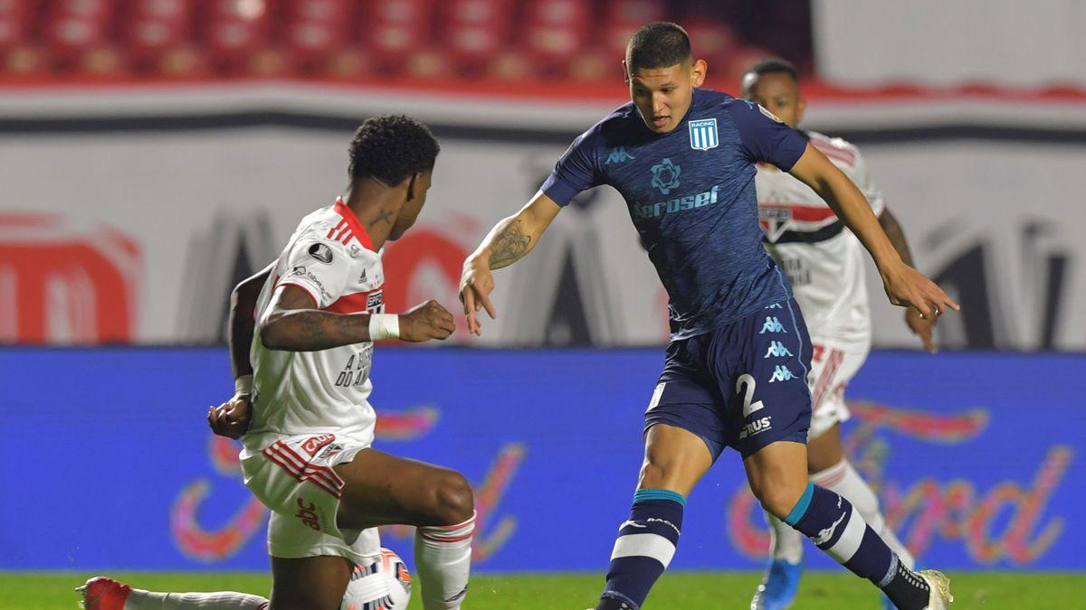 Racing empata 1-1 ante San Pablo en Brasil.