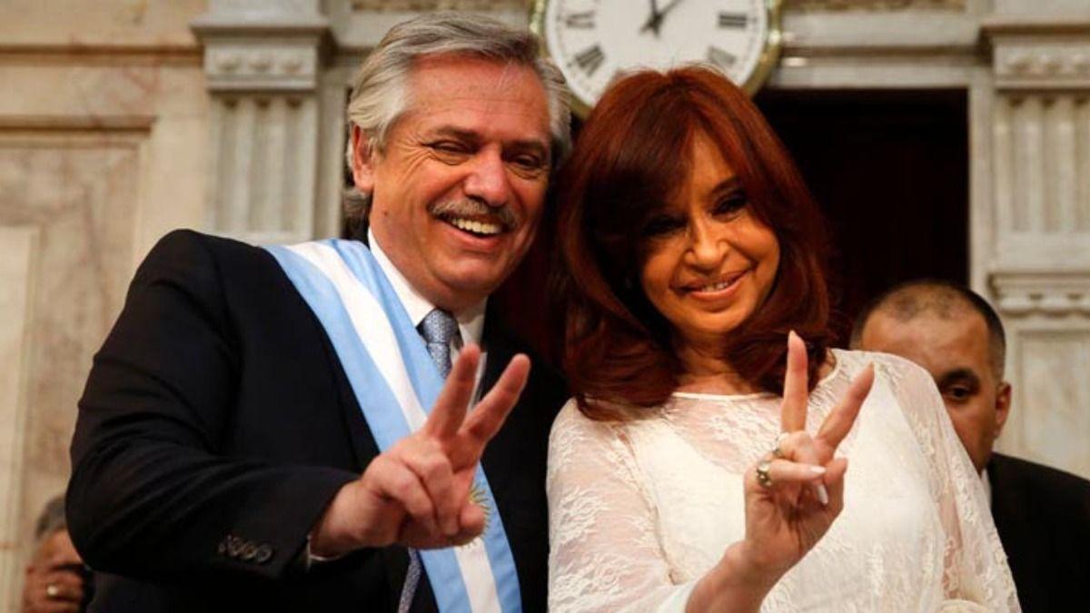 Alberto Fernández y Cristina Kirchner festejaron el título de la Selección Argentina.