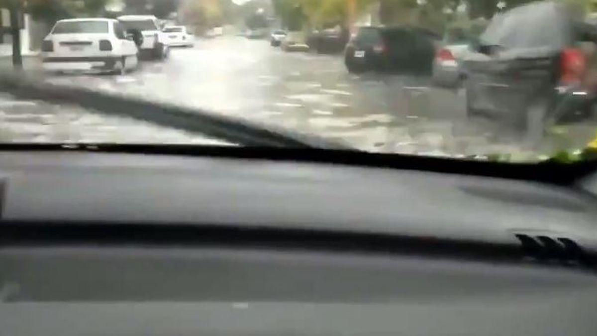 El video de un Peugeot en una inundación que se viralizó.