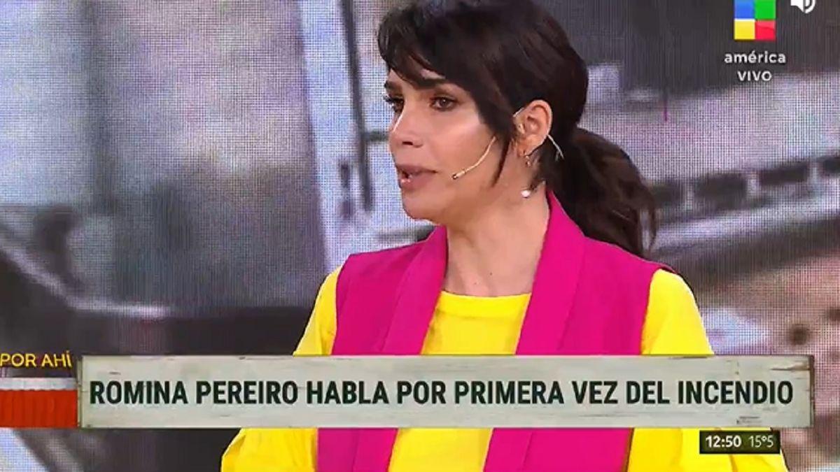 Romina Pereiro recordó el incendio que vivió con Jorge Rial