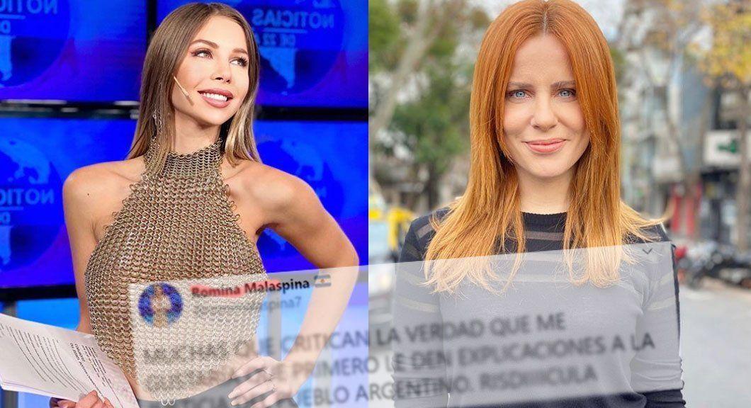 Romina Malaspina enojada con Agustina Kämpfer le hizo un fuerte reproche