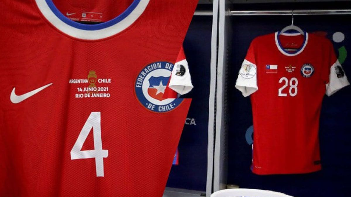 Chile tapó la pipa con una bandera del país.