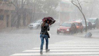 Alerta meteorológico por fuertes tormentas y caída de granizo