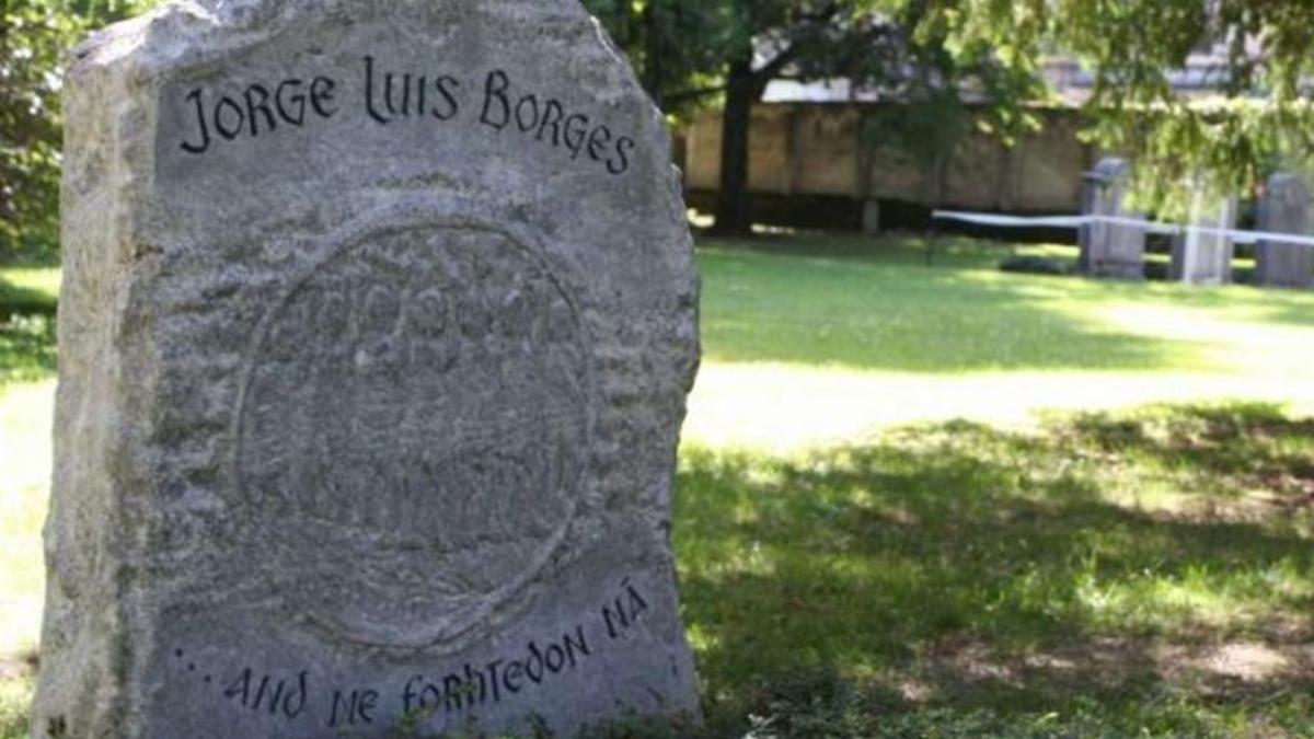 La tumba de Jorge Luis Borges en Ginebra