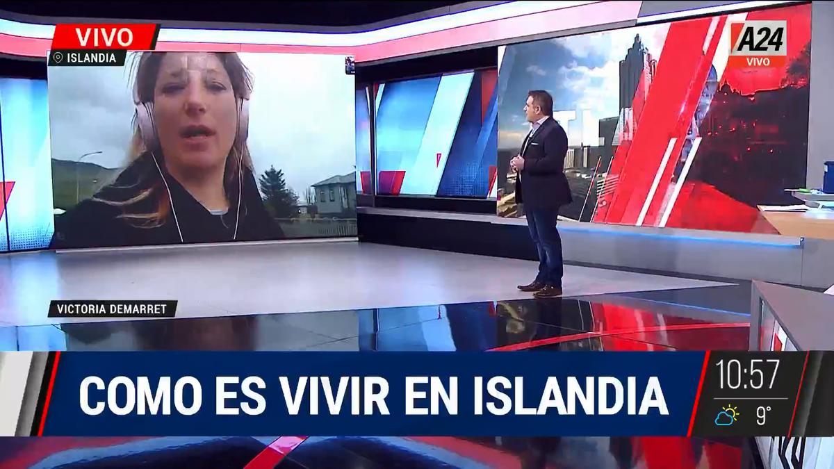 Era pospandemia: cómo es la vida de un argentina en Islandia. (Captura de Tv)
