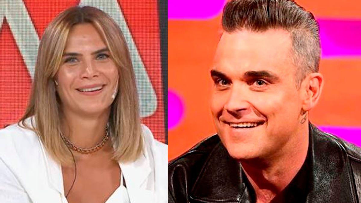 Amalia Granata reveló cómo fue que la encaró Robbie Williams .