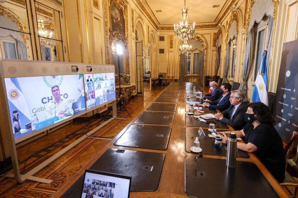 Alberto Fernández encabeza videoconferencia con Gobernadores: Se vuelven a ver