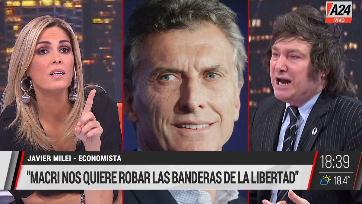 Javier Milei entrevistado por Viviana Canosa.