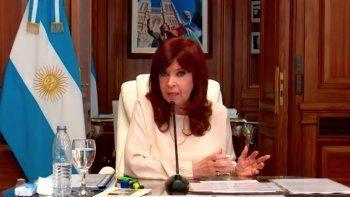 Cristina Kirchner, durante su declaración (Foto captura de TV).