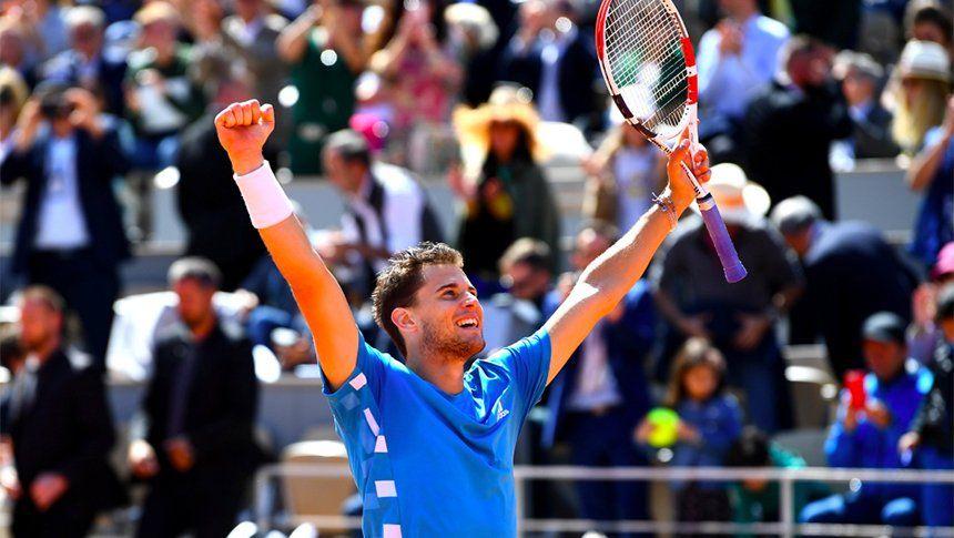 Roland Garros: Thiem le ganó a Djokovic en cinco sets e irá por la revancha y el título ante Nadal
