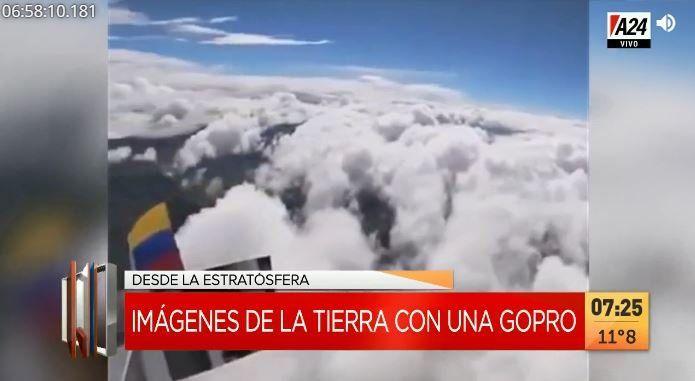 Lanzó una GoPro a la estratosfera: mirá las imágenes de la Tierra