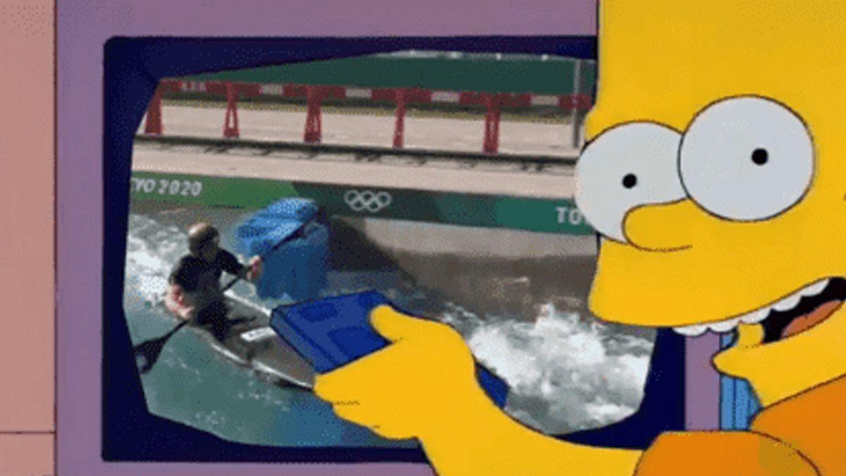 Tokio 2020: Quedó eliminado y posteó un video de Los Simpson