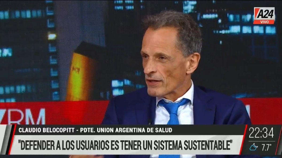 Claudio Belocopitt: Estamos discutiendo la sustentabilidad del sistema de salud