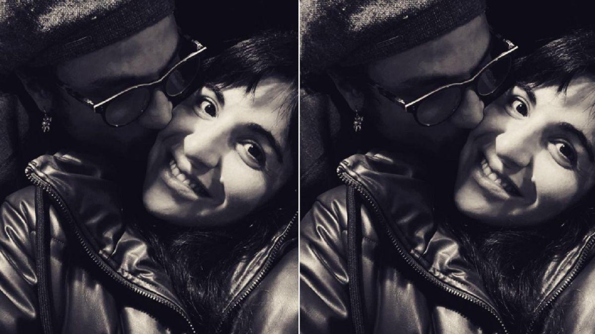 El romántico beso de Gianinna Maradona y Daniel Osvaldo