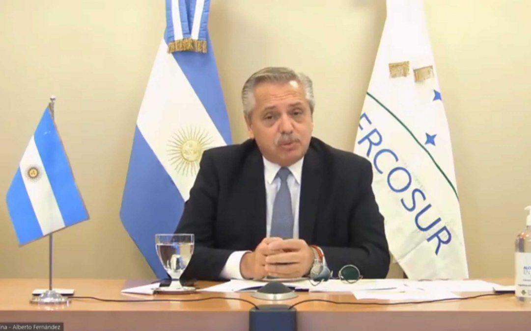 Alberto Fernández abre este viernes la cumbre virtual por los 30 años del Mercosur