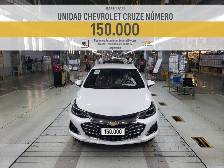 General Motors alcanzó un nuevo hito con la fabricación 150.000 del Chevrolet Cruze