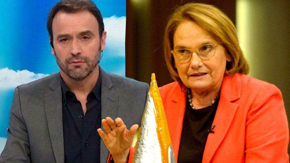 Adrián Pallares con los botines de punta criticó a Dolli Irigoyen