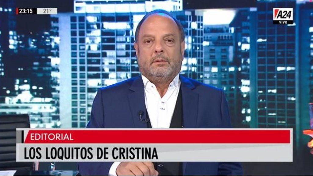 En su implacable editorial, Baby habló sobre los loquitos de Cristina y los calificó como el ejército de las tinieblas