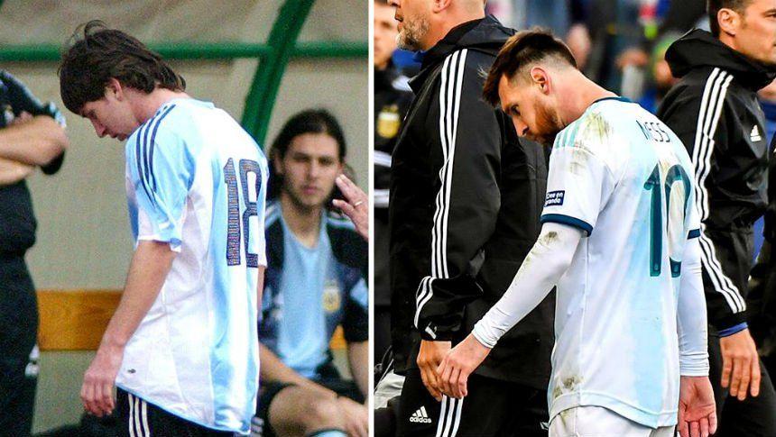 Tuvieron que pasar catorce años para que Messi vuelva a ser expulsado con la Selección
