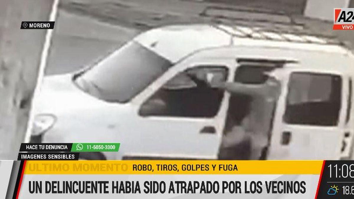 Robo y tiros en Moreno: balean a un nene de 12 años. (Captura de Tv)