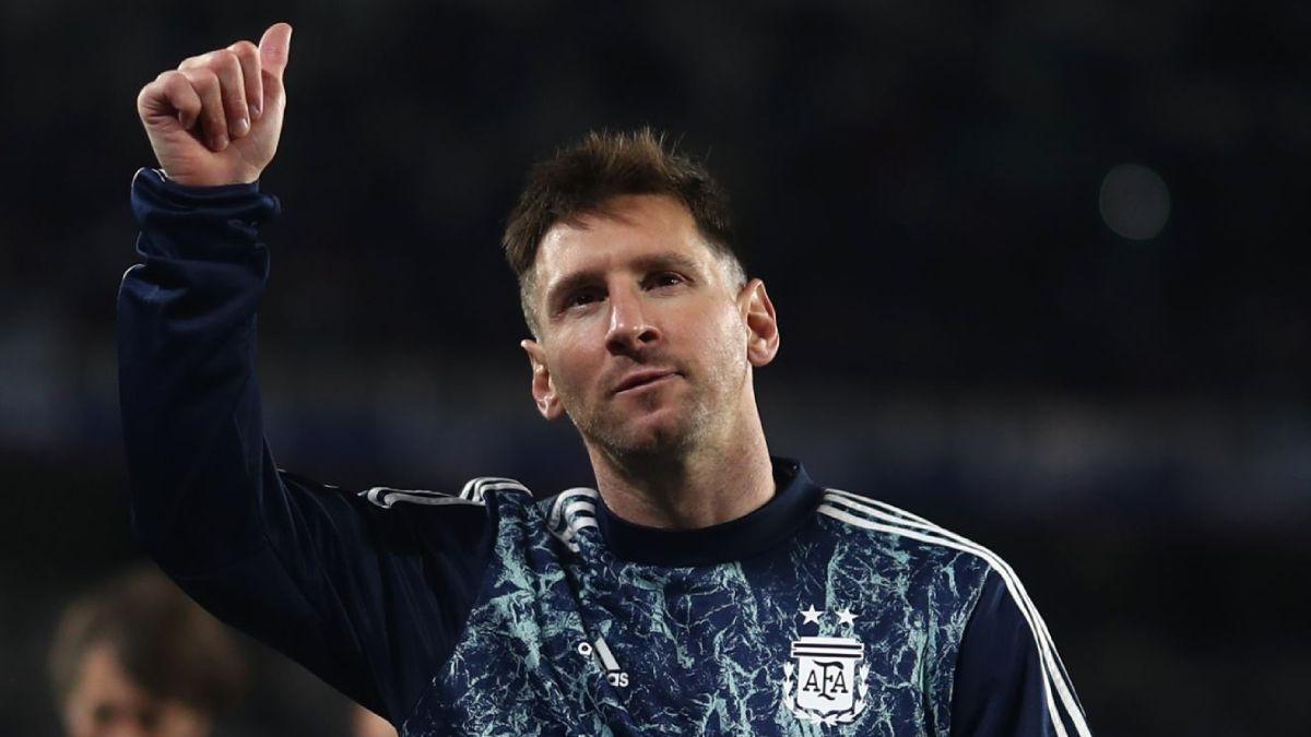 Messi se mostró emocionado en la previa.