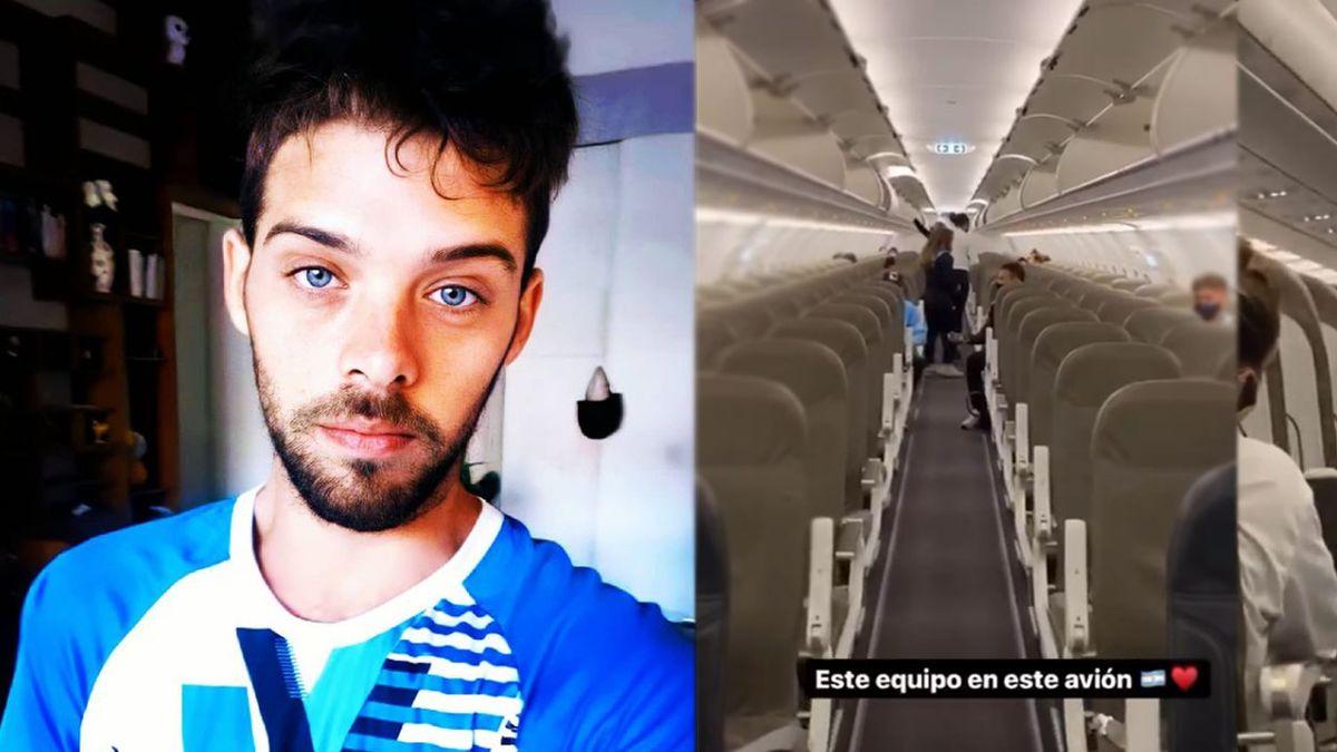 Santi Maratea viajó a Ecuador con los atletas en el avión que consiguió