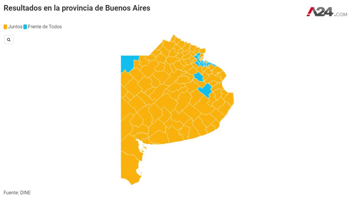 La alianza Juntos venció en casi todos los municipios del interior bonaerense (Foto: Archivo)