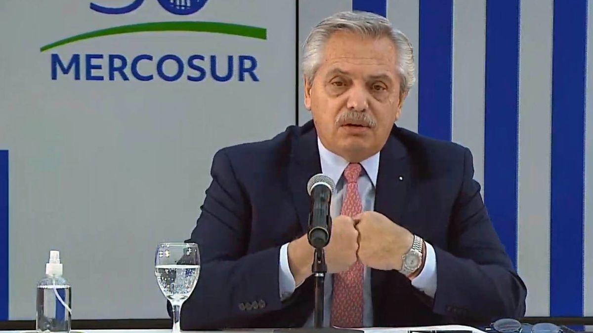 Alberto Fernández encabezóla Cumbre de Jefes de Estado del Mercosur. Foto: Télam.