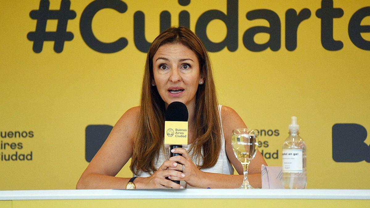 Soledad Acuña defendió la presencialidad en las escuelas porteñas.