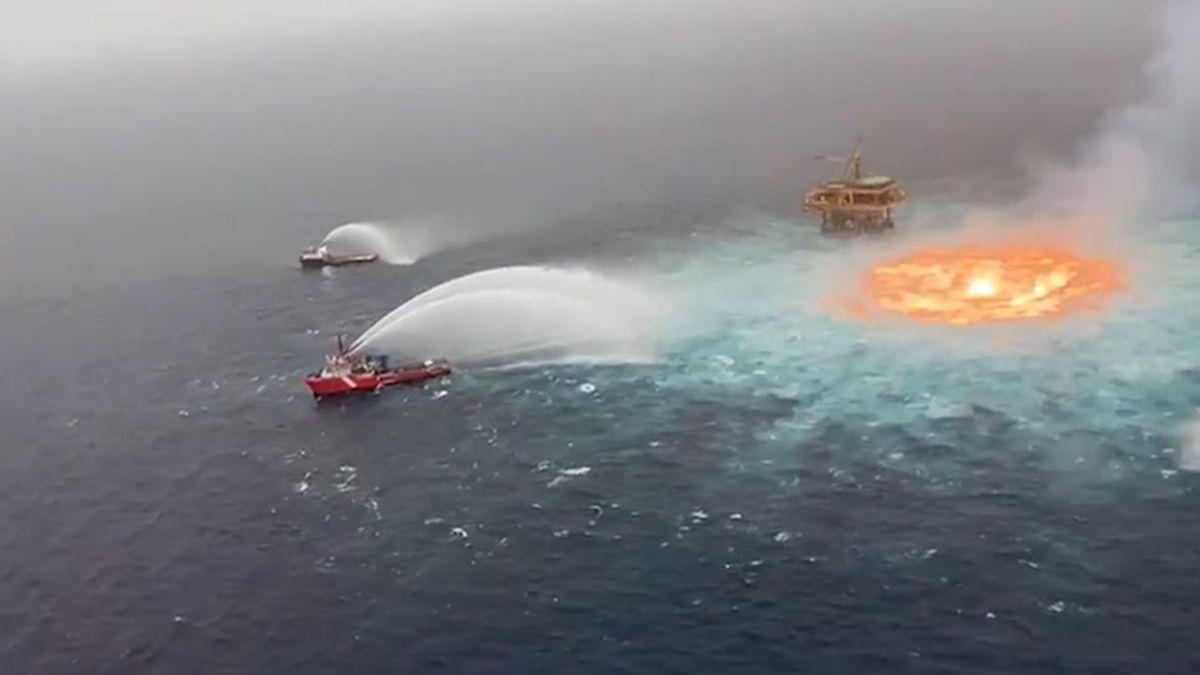 Incendio en el Golfo de México
