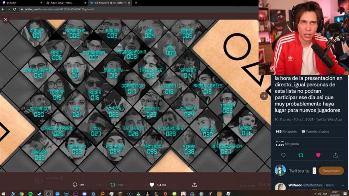 Rubius organizará Los juegos del Calamar para streamers vía Roblox.