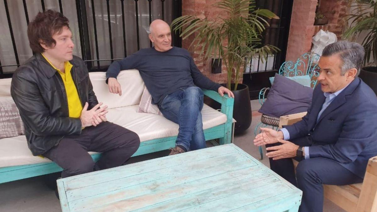 Javier Milei, José Luis Espert y Luis Rosales.