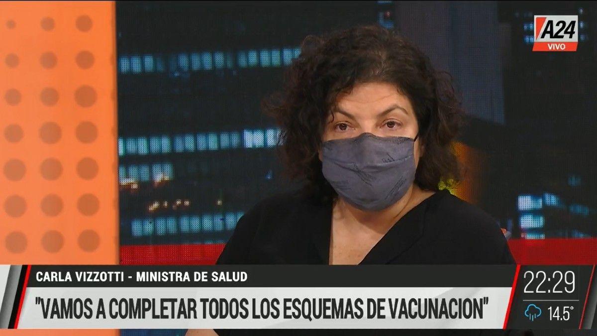 Carla Vizzotti: No tiene relación la cantidad de muertos con el atraso del plan de vacunación