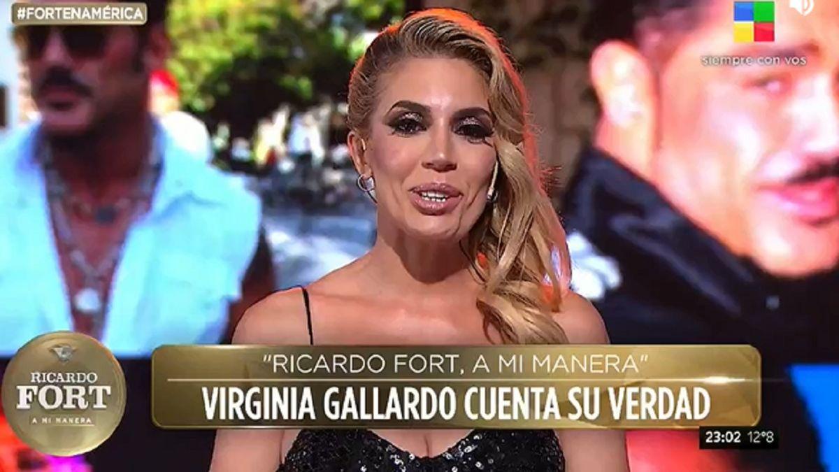 La frase que Virginia Gallardo le escribió a Ricardo Fort
