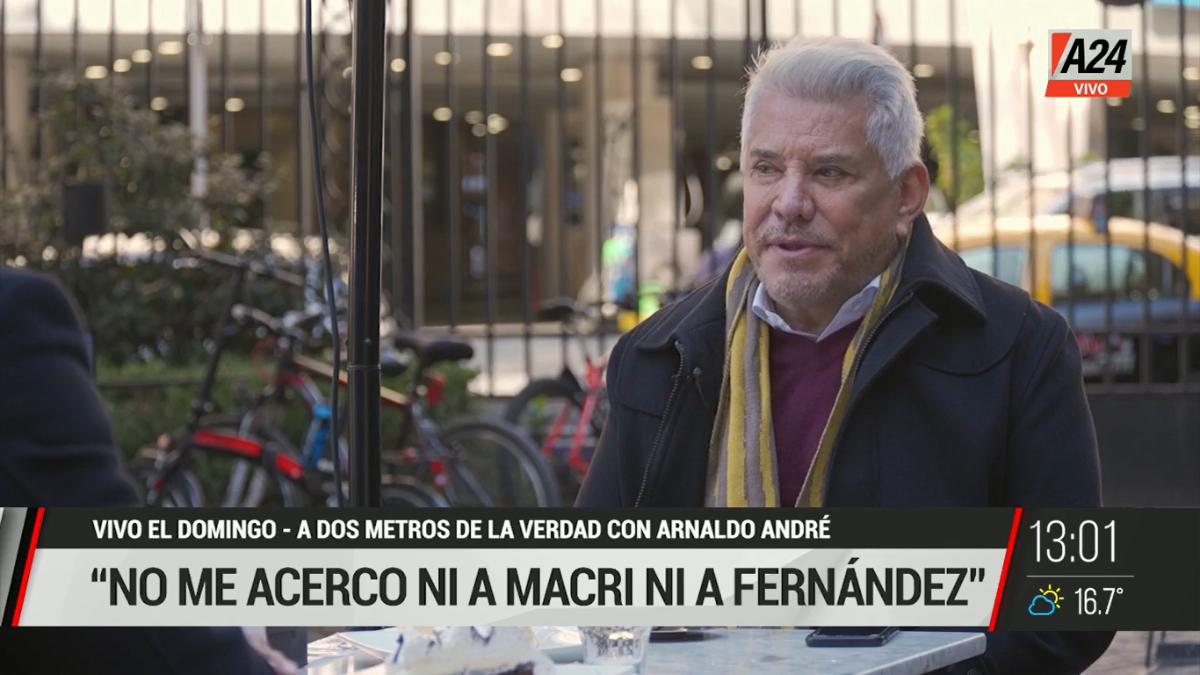 Arnaldo André conversó con Vivo el domingo