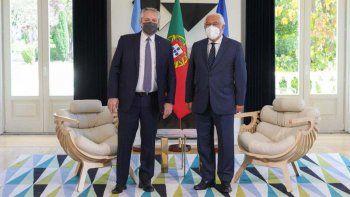Alberto Fernández logró el respaldo de Portugal en la negociación con el FMI