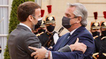 Alberto Fernández se reunió con Macron y sumó más apoyo ante el Club de París