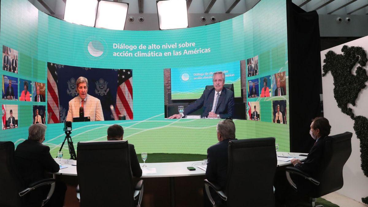 Alberto Fernández participó de la apertura de la cumbre latinoamericana sobre cambio climático denominada Diálogo de alto nivel sobre acción climática en las Américas.