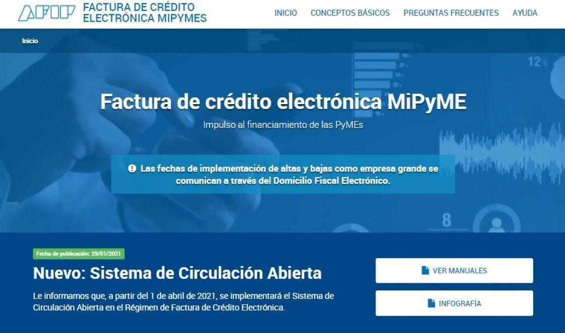 La Secretaría de Pequeñas y Medianas Empresas está a cargo de la instrumentación del nuevo régimen de Factura de Crédito Electrónica y actualizó el monto mínimo a $195.698 para que las Pymes puedan emitir el comprobante.