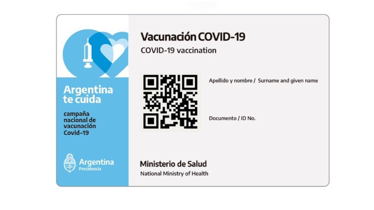 La credencial de vacunación digital de Mi Argentina será la acreditación internacional de vacunación contra COVID-19