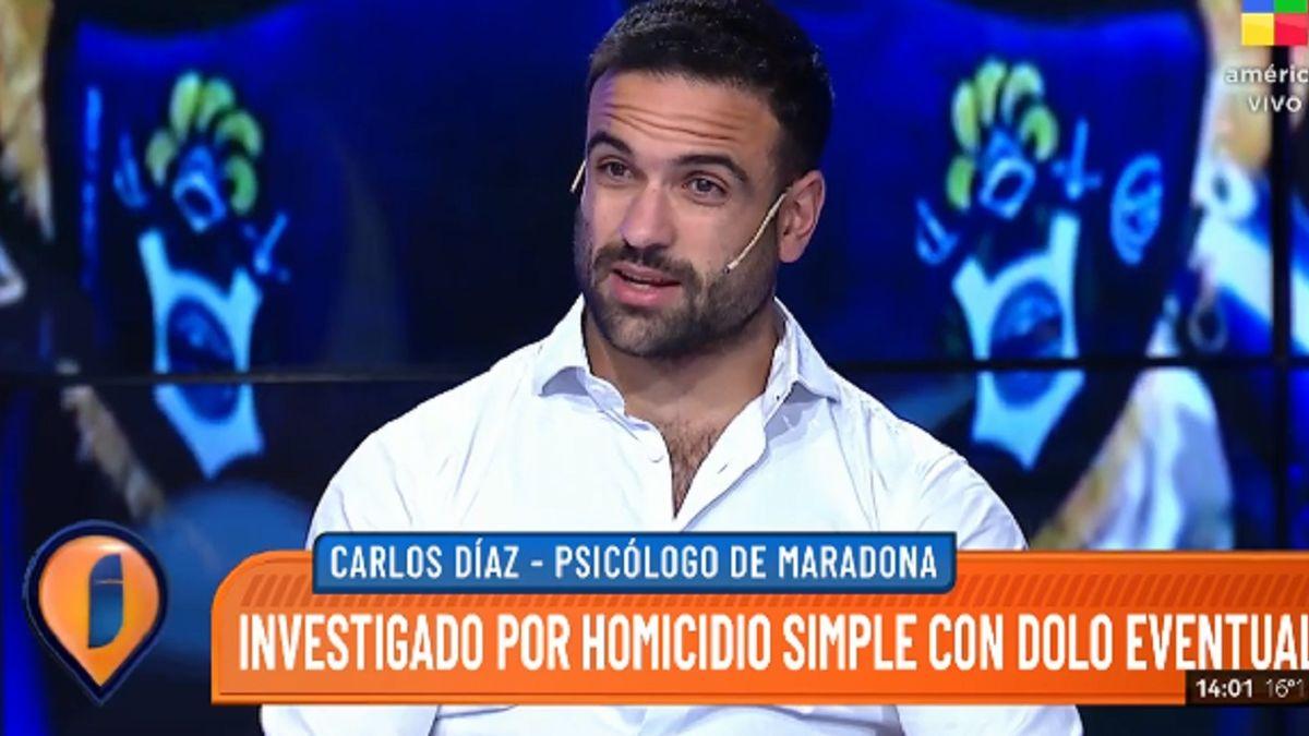 Carlos Díaz relató el momento en que encontraron muerto a Maradona