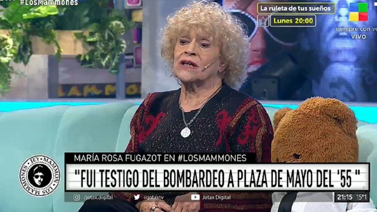 María Rosa Fugazot habló del bombardeo en la Plaza de Mayo